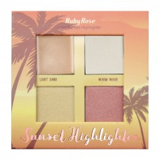 Paleta Iluminador Sunset Highlighter Light 7504 Ruby Rose